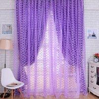 Wholesale New Rose Tulle Window Screens Door Balcony Curtain Panel Sheer Scarfs Curtain MTY3