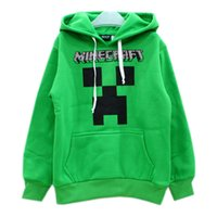 Wholesale Autumn winter y Boys hoody Minecraft Enderman JJ coolie long sleeve pure large Children s hoody christmas baby boy clothes baby clothes