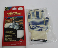 Wholesale Ove Glove Microwave oven Glove Heat Resistant Cooking Heat Proof Oven Mitt Glove Hot Surface Handler with retail box