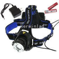 battery charger switch mode - LED Headlight flashlight LM CREE XM L XML T6 switch Mode Headlamp Zoomable Adjustable headlamp with rechargerable battery charger