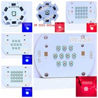 Wholesale W W W nm nm Plant Grow LED light Epileds Led Emitter Light nm deep red NM Royal Blue for indoor garden plant