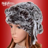 rabbit fur hat - 2015 rex rabbit hair cap women s fur rabbit fur hat winter thickening thermal knitted hat toe cap covering cap