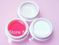 Cheap Brand New 3 in 1 White Clear Pink UV Builder Gel Acrylic Nail Art Tips Manicure Free Shipping & Wholesale