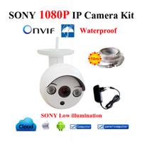 Wholesale Full HD IP Camera P Waterproof Mini CCTV Camera Kit ONVIF Home Security system Cameras IP Outdoor Digital Cam P2P cctv