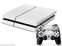 Cheap New Cool Carbon Fiber Sticker For PS4 Console 2Controller Skin Decal White Free shipping
