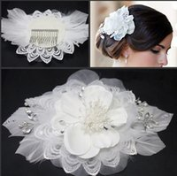 antique photography - 2016 NEW Pure handmade lace flower bride headdress studio photography large white pearl diamond free shopping
