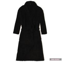 Wholesale Winter Warm flannel solid color coral fleece robe men s long sleeve plus size bathrobes home casual sleepwear