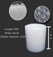 Wholesale a new material roll bubble film width CM length m thick shockproof foam pad cushion film bubble bags