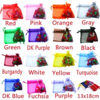 Wholesale 80pcs bag Selection Colors Jewelry bag x18cm organza jewelry packaging display Jewelry Pouches