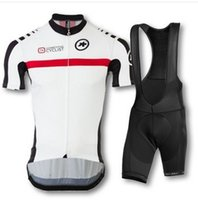 Wholesale New assos men cycling jersey clothing set short sleeve jacket bib gel pad shorts kit summer bicycle sport