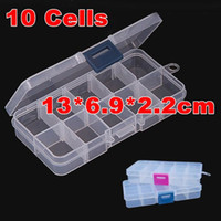 american storage containers - 5pcs cells jewelry boxes plastic acrylic cosmetic nail art Pill box case portable storage container stones Container Y2721
