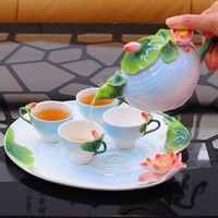 ceramic cup and saucer - China Jingdezhen ceramics Tilt Milk Coffee Tea Sets Cups Saucers And Mugs Teapot Coffee Pot Tea Tray kitchen dining bar