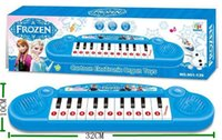 Wholesale 2014 Frozen princess toys Children s electronic organ cartoon keyboard songs music Learning Education Toy Musical Instrument Christmas