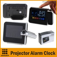 Cheap Multi-Function Digital LCD Screen LED Projector Alarm Clock Weather Station Wholesale Hot High quality Free Shipping