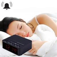 clock radio mp3 - Mini Portable Desktop Alarm Clock Bluetooth V2 Stereo Speaker Support FM Radio Handsfree AUX In TF Card with LED Display
