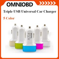 Wholesale Hot Triple USB Universal Car Charger Adapter Port A A A For iPhone Samsung TO