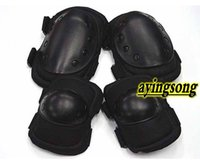 knee and elbow pads - Black Tactical paintball Pad knee pads and elbow pads Protection