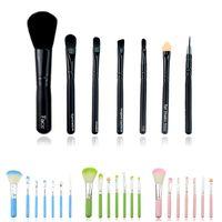 powder brush - New Cute Kitty Mini Cosmetic Makeup Powder Brushes Set Tools Kit Pink Black Blue Green