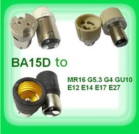Wholesale BA15d B15 B15d to MR16 G5 G4 GU10 E12 E14 E17 E27 lamp connectors