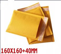 Envoltura de empaquetado de la burbuja del envoltorio de papel del kraft del oro 50pcs / lot que envía los sobres acolchados auto-adhensive del bolso 160 * 160m m + 40m m