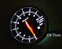 Wholesale Universal Car Autogauge tachometer PSI Pressure Vacuum Gauge Meter white red light LED New tacho