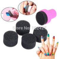 Wholesale 5Pcs Hot Sale Magic Nail Art Sponges with Stamper Polish Stamping Manicure Tool Set DIY Creative Nail Art Tools Accessories