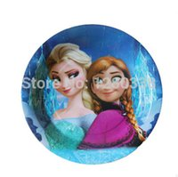 frozen party supplies - 12PC Inch Frozen Theme Quality Party Paper Plates Girl Birthday Party Supplies Party Plates Freeshipping