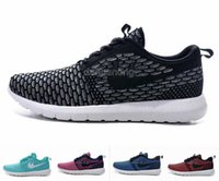 Wholesale New Style Roshe Run Flyknits Running Shoes For Women Men Fashionable Mesh Athletic Sport Sneakers Eur Size