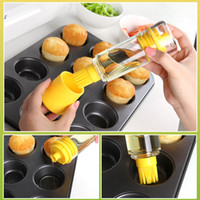Wholesale Silicone Honey Oil Bottle with Brush for Barbecue Cooking Baking Pancake BBQ barbacoa churrasco