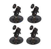 Wholesale 4pcs New Arrival New Swivel Surveillance CCTV Camera Wall Mount Bracket Ceiling Stand Black Alipower