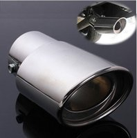 Wholesale New Universal Chrome Stainless Steel Car Rear Round Exhaust Pipe Tail Muffler Tip uk Hot Sale Car Accessories