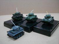 Wholesale DHL Free Mini Remote Control Tank Remote Control Toy electric lighting wireless remote tank electric model