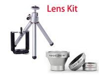 Cheap MINI Tripod +Holder Magnetic 3 in 1 mobile phone lens 0.67xWide Angle Macro 180 Fish Eye lens camera Kit Set for iPhone 6