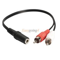 mini ide - EA14 mm Y Adapter Audio Cable Stereo Female Mini Jack to RCA Male Adapter