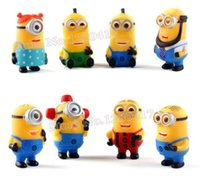 gift sets - ArielBaby Pieces Set Minions Figure Toys Set Despicable Me PVC doll cm D Eye For Xmas Gift In Stock High Quality