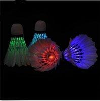 Wholesale Brand New Birdies Lighting Dark Night Colorful LED Badminton Shuttlecock
