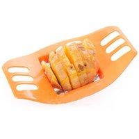 Metal potato - Practical Stainless steel Potato Cutting Device Fries Potato Chips Cut Cutter Slicer Kitchen Tool Gadget MPJ425