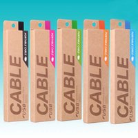 kraft box - Universal Mobile Phone Cable Package kraft Paper Retail Packaging Box For M Micro USB Cables Data Charger Line