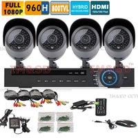 Wholesale 800TVL Camera HD Video Surveillance System CH H H DVR Kit CCTV Outdoor IR Weatherproof Home Security CCTV Camera System
