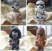 bb chains - 2016 Star Wars The Force Awakens BB Keychains Hot Cartoon Movie Action Figures Keys Chains Kids Toys Gifts
