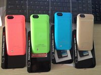 Wholesale TOP mah Power case for iphone6 External Backup Battery Charger Case For iphone Power charger case for iphone