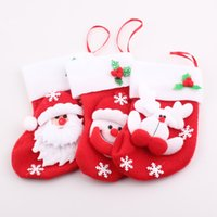 Wholesale New Year Christmas Decoration Gifts Santa Claus snowman Reindeer Socks Christmas tree Ornaments JJAL X03