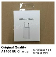 Wholesale Set Original Quality A1400 EU Plug USB AC Power Charger Wall Adapter For iPad mini iphone S C S With Original Box