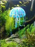 Wholesale Glowing Effect Aquarium Artificial Jellyfish Ornament Fish Tank Decoration