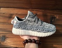 Wholesale aadidas Originals Kanye Milan West Yeezy Boost Classic Gray Black Men s Fashion Sneaker Shoes With Box Sports Shoes