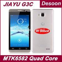 """Spedizione gratuita G3 Jiayu G3c telefoni cellulari MTK6582 Quad Core 4GB ROM +1GB di RAM 4.5"""" 8MP Gorilla Glass Nero Argento russo/ Koccis"""
