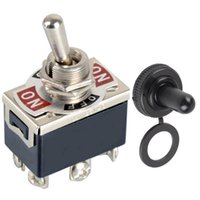 Wholesale High quality pin Black DPDT DC Moto Reverse ON OFF ON Toggle Switch amp Switch Cap VE183 P