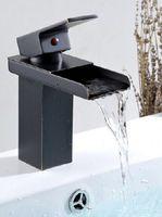 bathroom vanity black - Oil Rubbed Bronze Waterfall Spout Bathroom Sink Vessel Vanity faucets Lavatory Mixer Tap Single Handle basin mixer tap