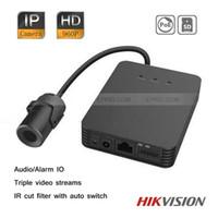 Wholesale Hikvision Security MP HD Pinhole Covert IP Camera Triple Video Streams Audio Alarm IO