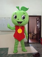 Wholesale Green Apple Mascot Costumes Party Dress Apple Mascot Costumes Party Dress Halloween Christmas Apple Costumes
